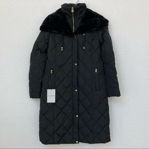 Cole Haan Hooded Quilted Maxi Down Puffer Coat NWT